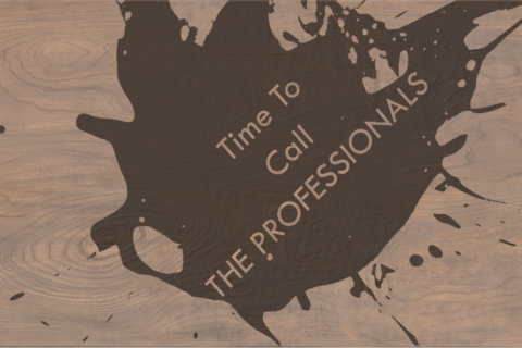 It is time to call the professionals